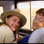 Bill and Melinda Gates in Kenya's Kichwa Tembo Wilderness Reserve during their first trip to Afric