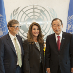 Bill and Melinda Gates meet with UN Secretary General Ban Ki Moon, September 25, 2013.