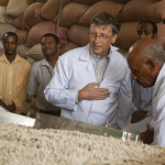 Bill Gates visiting an agricultural facility in Adama, Ethiopia on March 28, 2012.
