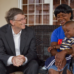 Bill Gates meets with Florence Daka and her son Stephen, March 29, 2012.