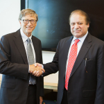 Bill Gates met with Pakistan Prime Minister Nawaz Sharif in New York at UNGA, September 24, 2013.