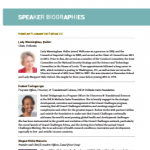 Speakers Biographies