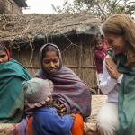 Melinda Gates meets with Sharmila Devi in Bihar, India on January 24, 2013.