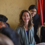 Melinda Gates meets with frontline health workers in a village in Bihar, India on January 24, 2013.