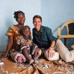 Melinda Gates visits the home of Ouleye Dia in Dakar, Senegal on July 9, 2012.