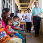 Bill Gates in Pailin, Cambodia